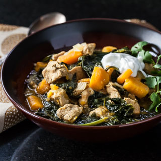 Sweet Potato, Chicken, and Spinach Curry with Quinoa.