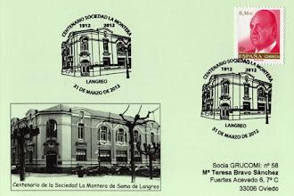 Photo: Matasellos del Centenario de la Sociedad La Montera de Sama de Langreo 2012