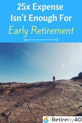 Perbelanjaan tahunan 25x tidak mencukupi untuk bersara awal