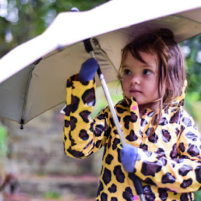 Rain Rain by Kelly Hulme - People Family ( natural light, umbrella, children, rain, portrait )