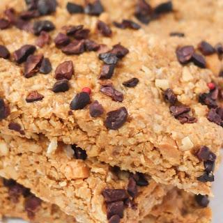 Healthy Peanut Butter Bliss Bars.