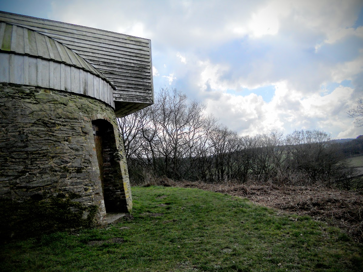 The old windmill base atop Windmill Hill