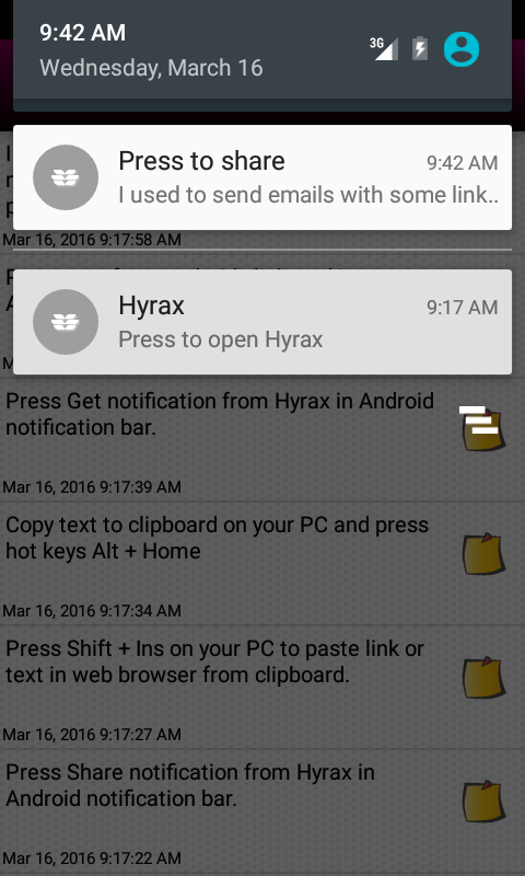 HyraxHub Share clipboard w/ PC- screenshot