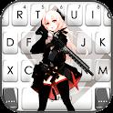 Anime Assassin Girl Keyboard Theme icon