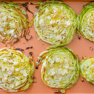 Roasted Cabbage Steaks - 21 Day Fix + Paleo Approved.