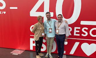 Las caras del PSOE de Almería en el congreso federal