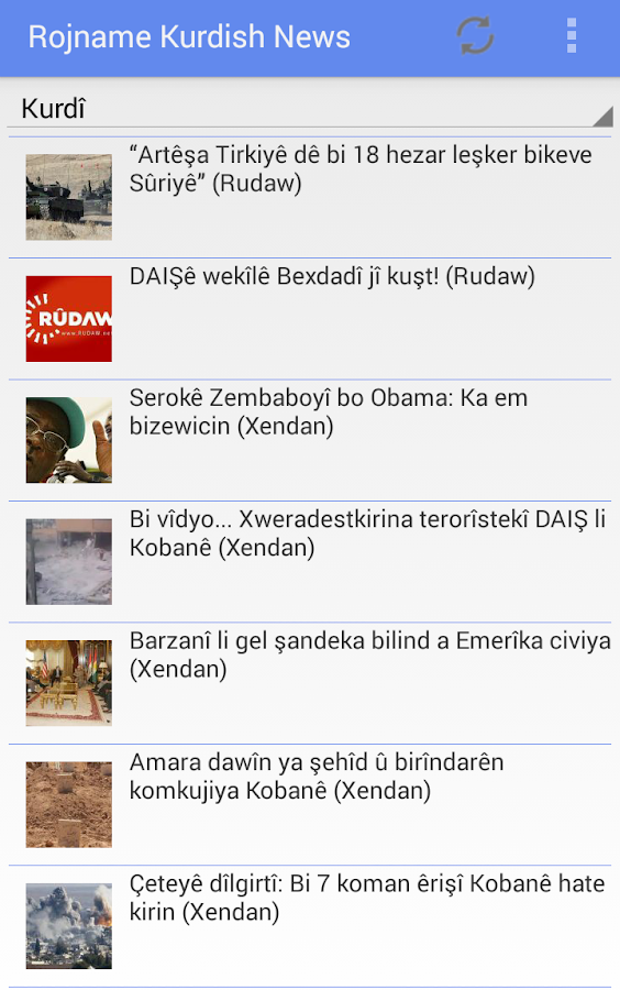 Rojname Kurdish News- screenshot