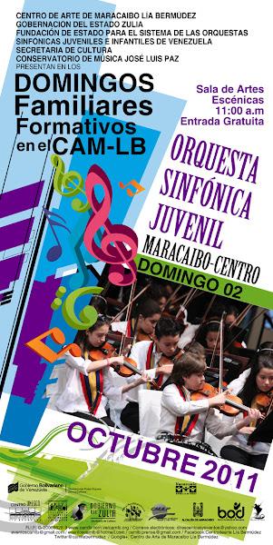 Photo: DOMINGO 02/10: Fundación CAM-LB en los DOMINGOS FAMILIARES FORMATIVOS EN EL CAM-LB presenta a la ORQUESTA SINFÒNICA INFANTIL Y JUVENIL MARACAIBO-CENTRO. Sala de Artes Escénicas 11:00 a.m. Entrada Gratuita