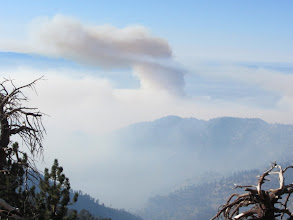 Photo: View south from Copter Ridge toward South Hawkins and the Williams Fire 2012