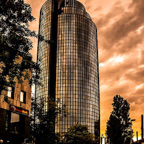 After Rain there is always the Sun by Iva Marinić - Buildings & Architecture Office Buildings & Hotels ( sky, landscape photography, reflection, reflections, street, sunset, skyscape, clouds, landscape, photography, street photography, architecture )