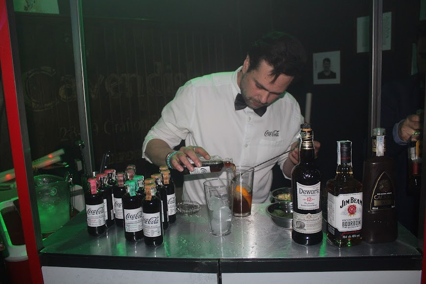 Coca Cola en su stand de los Premios de la Noche Almeriense.