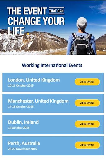 Working International Expo App