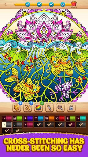 Cross Stitch Coloring Mandala screenshot 2