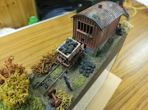 "Photo: 023 New Haycock Wood Drift Mine, a hand powered 009 ""layout"" by Danny Figg ."