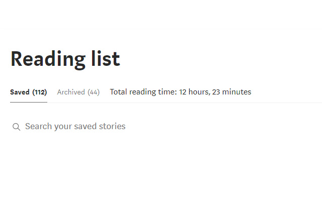Medium Total Reading Time