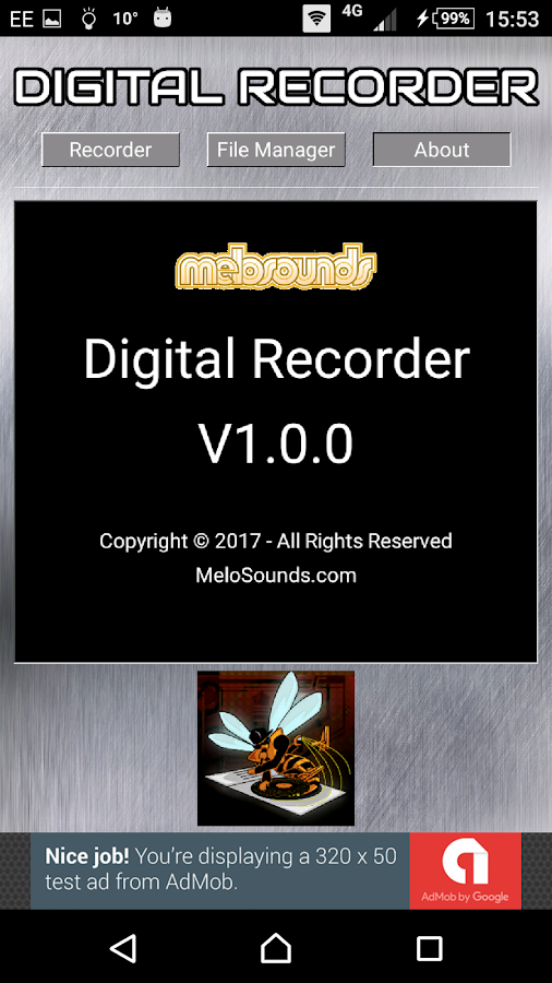 MeloSounds Digital Audio Recorder- screenshot