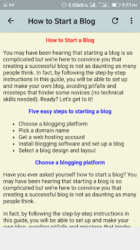 Blogging Guide 1.1 screenshots 2