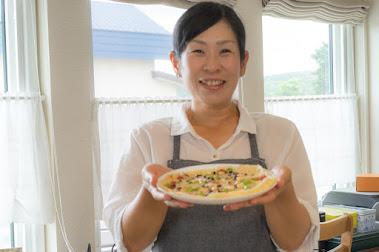 黒千石レシピ:黒千石大豆たちのお豆ピザ:永井美保子の黒千石クッキング
