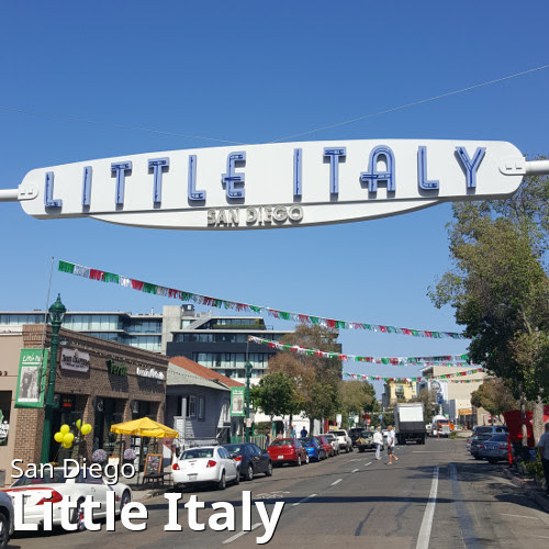 San Diego's Little Italy neighborhood