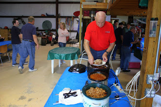 Photo: Menu was pulled pork & beans, along with a bunch of other goodies.