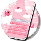 Pink Clouds For GO Keyboard
