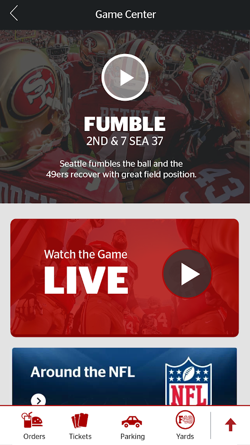 Levi's Stadium App- screenshot