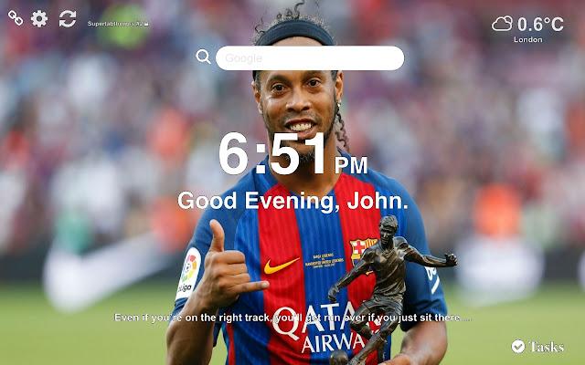 Ronaldinho Wallpaper Tab Theme