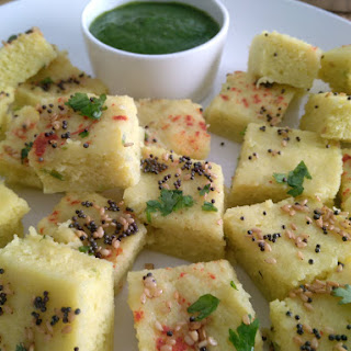 Steamed Yellow Moong Dal Dhokla