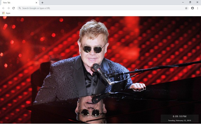 Elton John New Tab & Wallpapers Collection