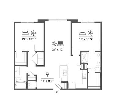 B1 Alt Floorplan Diagram No Balcony