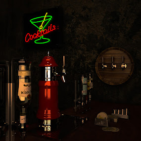cocktails by Dian Anugrah - Illustration Products & Objects ( sign, beer, red, food, drink, cocktail, glow )