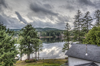 Photo: HDR of the lake and sky
