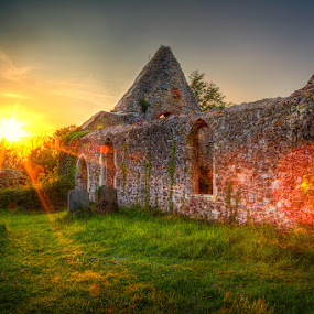 by Barry Jones - Buildings & Architecture Places of Worship ( building, church, sunset, essex, akresfird, architecture )