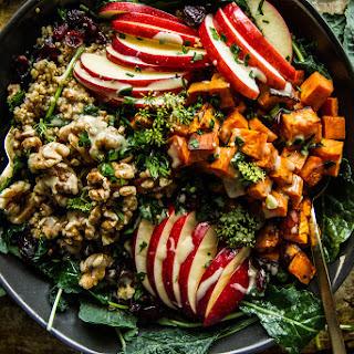 Spiced Apple Cider and Sweet Potato Quinoa Bowl- GF and Vegan