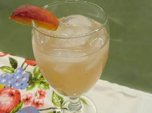 """Tipsy Peach Lemonade""""This one is very inviting on a hot afternoon but..."""