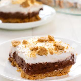 Chocolate Cheesecake Pudding Dessert.