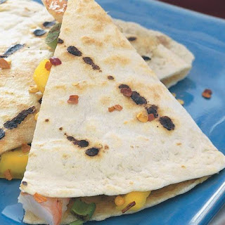 Island Shrimp Quesadillas