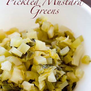Pickled Mustard Green Relish