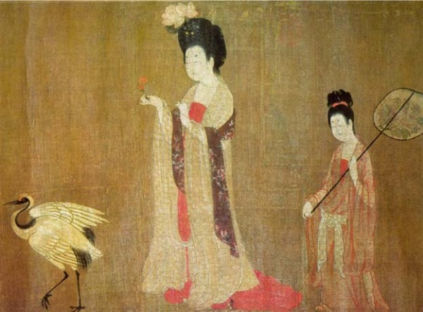 """Beauties Wearing Flowers,"" by Tang-Dynasty painter Zhou Fang"