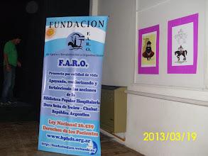 """Photo: Fundacion FARO acompañando La Tierra Habla LA FUNDACIÓN F.A.R.O. PROMUEVE LA INTERCULTURIDAD.. APOYANDO LA OBRA """"LA TIERRA HABLA DE IVONNE LUCIA JUAN SANTANA Y A SU VEZ EN SALUD A LA BIBLIOTECA POPULAR HOSPITALARIA DORA SEÑA CON LA LEY DEL DERECHO DEL PACIENTE"""