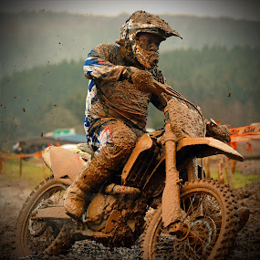 Muddy Biker by Marco Bertamé - Sports & Fitness Motorsports ( turn, bike, mud, rainy, motocross, motorcycle, clumps, race, competition,  )