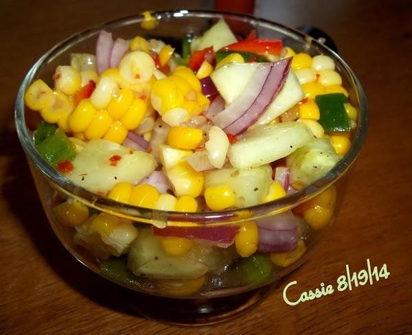 Zesty Cucumber Corn Salad Recipe