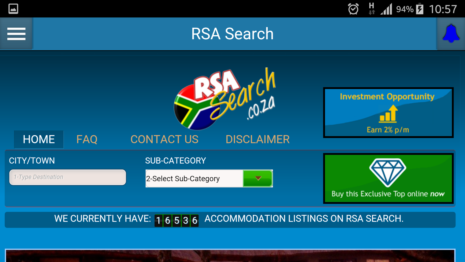 RSA Search- screenshot