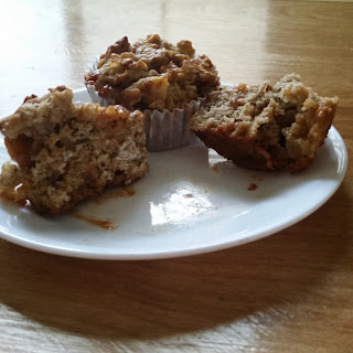 Sticky Caramel Apple Muffins
