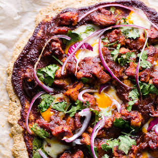 Oatmeal Pizza Crust (Healthy BBQ Chicken Pizza).
