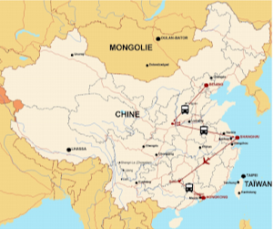 carte GRANDE découverte de chine