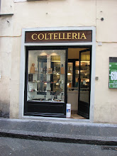 Photo: This knife shop was just a few doors from the enoteca.