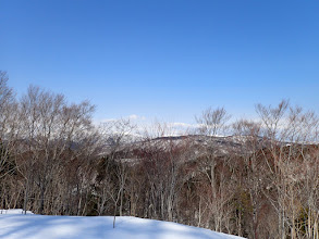 白山方面には雲