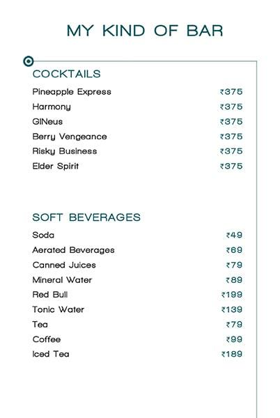 Mkob - My Kind Of Bar menu 5