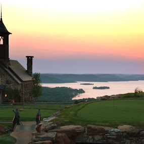 Sunset at Top of the Rock by Michael Smith - Buildings & Architecture Places of Worship ( missouri, sunset, top of the rock, table rock lake, lake, ozarks, chapel, big cedar lodge )
